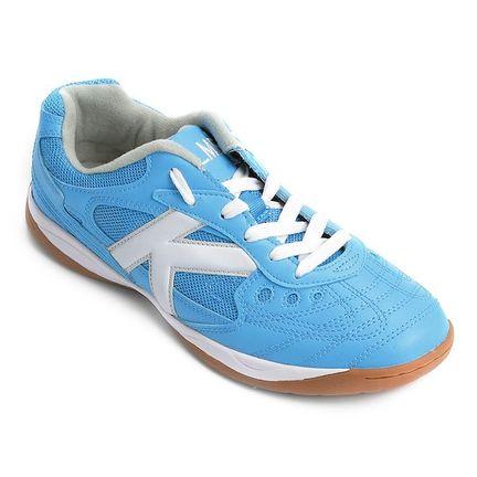 7016fa6832 Chuteira Kelme Copa Futsal Azul e Branca - Mercostore Shop