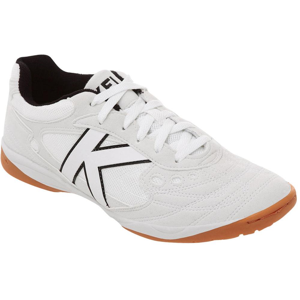 2a5d9e54a1 Chuteira Futsal Kelme Copa Branco e preto - Mercostore