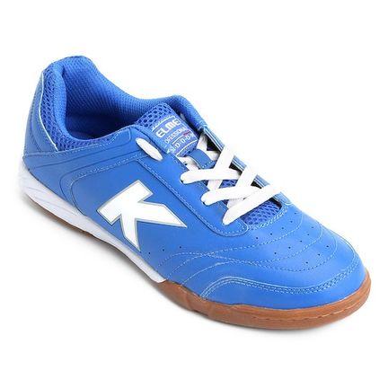 Chuteira Kelme Precision TRN Futsal Azul e Branca - Mercostore Shop 35c04910b1fec