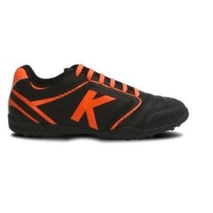 chuteira-society-kelme-sprint-tf-preto-laranja