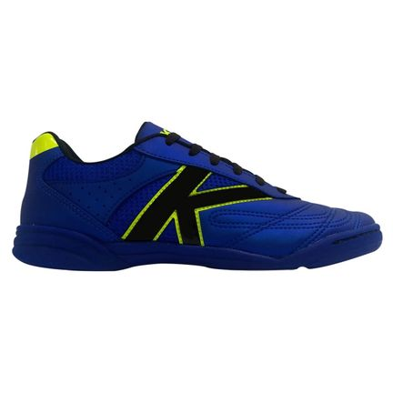 chuteira-futsal-kelme-skill-fs-azul-metalico-preto-lima