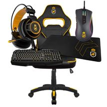 kit-gamer-armor-2-cadeira-gamer-preta-amarela-headset-armor-mouse-dual-shock-mousepad-tech-grip-teclado-tech-fury-gamer-gorila