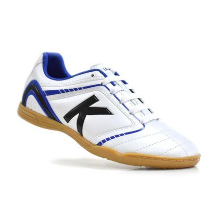 chuteira-futsal-kelme-sprint-1-0-fs-branco-azul