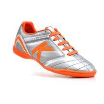 chuteira-futsal-kelme-sprint-1-0-fs-prata-laranja