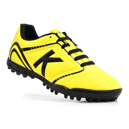 chuteira-society-kelme-sprint-1-0-tf-amarelo-preto