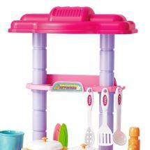 Kit Cozinha Infantil Completa Som Luz 43pçs BW091 Importway