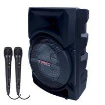 Caixinha de Som Bluetooth TRC 5522 - 220w RMS 02 Microfones