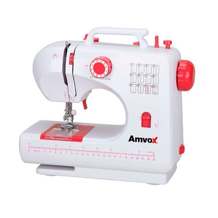 Máquina de Costura Doméstica 12 Pontos Amvox AMQ 012 Bivolt