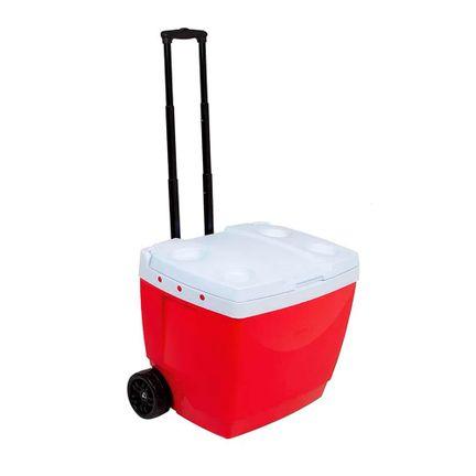Caixa Térmica Com Alça Retrátil 42 Litros Vermelha Mor