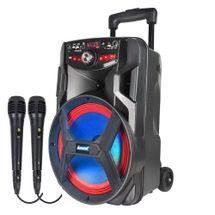 Caixa de som Amplifica Amvox ACA 250 Groove - 02 Microfones