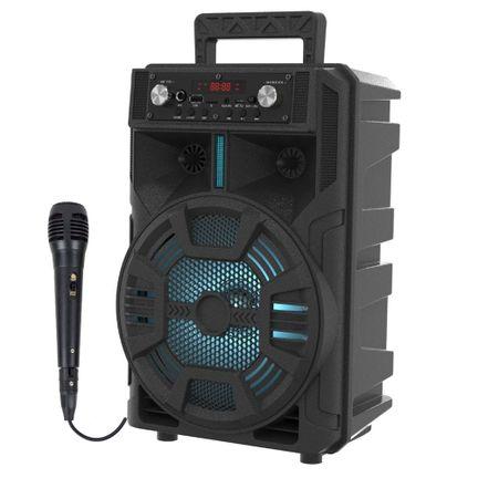 Caixinha de Som Bluetooth Sumay ADVANCE - 60w Microfone fio
