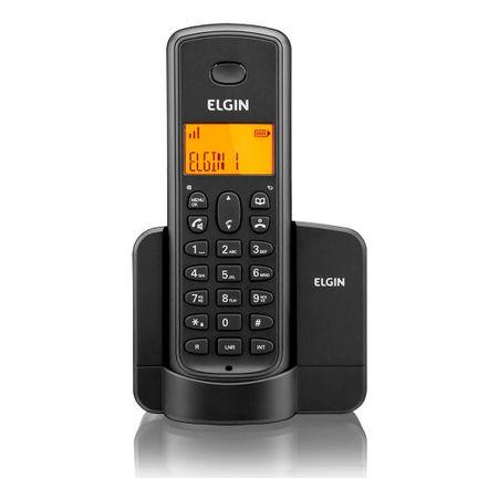 Telefone Sem Fio Elgin TSF8002 + 1 Ramal Viva Voz Preto