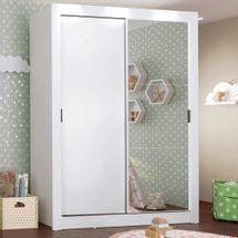 Guarda-Roupa Infantil Madesa Bento 2 Portas de Correr com Espelho 2 Gavetas Branco